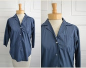 1950s Lady Manhattan Mansmooth Button Front Shirt