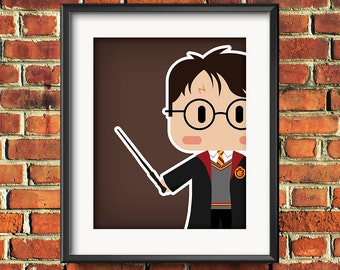 Harry Potter Inspired Poster - Choice of Background Color