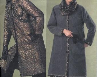 Vogue KOOS COUTURE V2868 Ladies Reversible Coat Jacket Hat Scarf Sewing Pattern 2868 Size 12, 14 and 16 Koos Van Den Akker