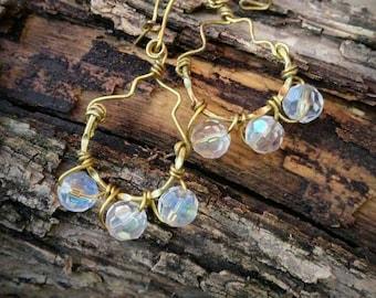 Crystal Wire Earrings
