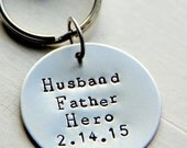 SALE Valentines for Daddy, Daddy Valentine, Valentines Day Gift For Him, Hero Father KeyChain, Military, Gift For Army Dad Veteran, Guitar p
