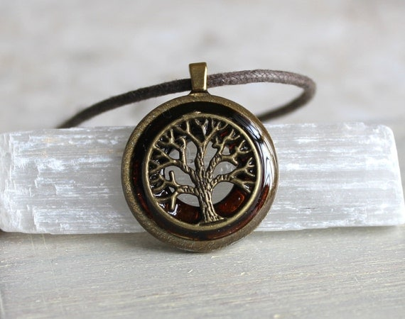 brown tree of life necklace, mens jewelry, unique gift, celtic jewelry, mens necklace, mens gift, elven jewelry, nature necklace, oak tree