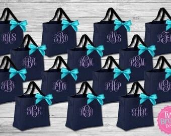 Bridesmaid Totes , Bridesmaid Gifts, Bridal Party Tote Bags, Bridal Party Gift, Bridesmaid Tote Bag, Monogrammed Totes