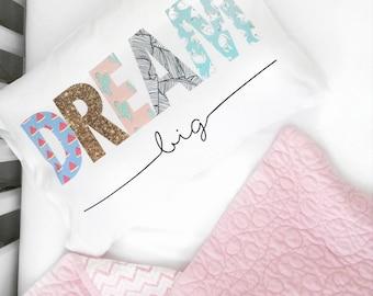 Dream Big Pillow Case Toddler Pillow Toddler Bed Crib Pillow Childs Pillow Kids Room PillowCase toddler bedding dream big little one