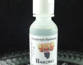 BARONG Beard Oil Small .5 oz, Indonesian Teak Wood Scented Cologne Oil, Teakwood Beard Conditioner, Natural Made in Ohio USA
