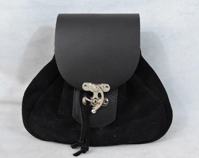 Featured listing image: Customizable Large Tier 1 Economy Sporran Design Leather Belt Bag / Pouch Medieval, Bushcraft, LARP, SCA, Costume, Ren Faire