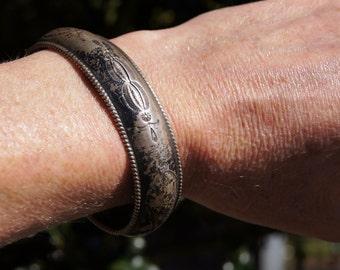 1950's Navajo Pawn Silver Cuff Bracelet