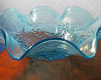 Vintage Blue Fruit Bowl
