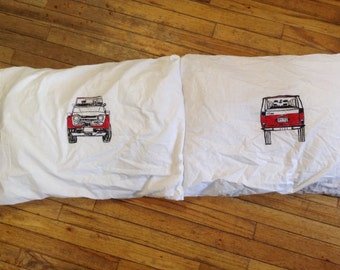 Sweet dreams! FJ55 55 series Land Cruiser pillow cases standard size pair