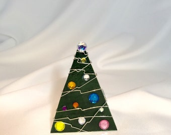 Green Traditional Christmas Tree Votive