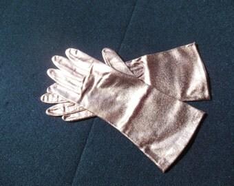 Copper Gloves, Vintage 1 Pair of Glitz Gloves
