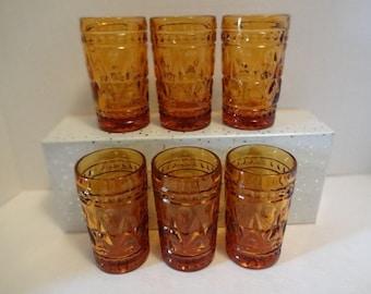 Set of Amber Park Lane Amber Vintage Juice Glasses