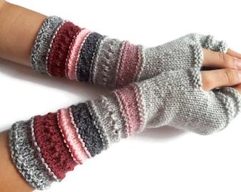 SALE 30% OFF Fingerless gloves - Arm warmers - Womens Fingerless - Long Fingerless Mittens - Wrist warmers - Hand warmers  