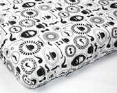 Black and white baby sheet - GENTLEMAN'S baby fitted sheet - baby boy bedding - changing pad cover - black and white crib sheet