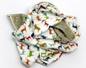 Organic baby swaddle blanket - muslin baby swaddle - gender neutral cotton swaddling blanket