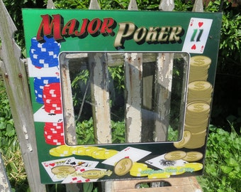 Vintage Poker Machine Front.