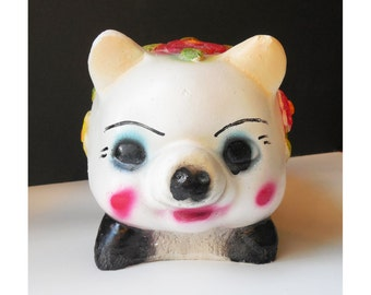 Vintage Chalkware Piggy Bank / Boho / Gypsy /