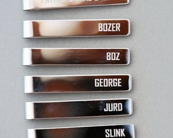 Personalized Tie Clips - Groomsmen Gift Set,Men's Wedding Accessories ,Personalized Wedding Party Gifts - Gift for Groomsmen Groom