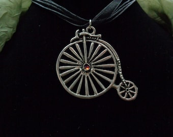 Silver Penny Farthing