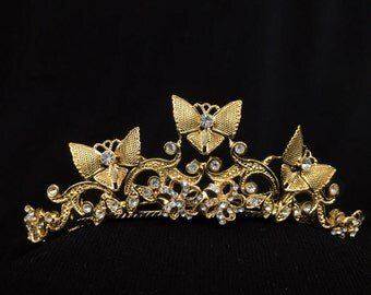 Vintage Butterfly Comb Tiara