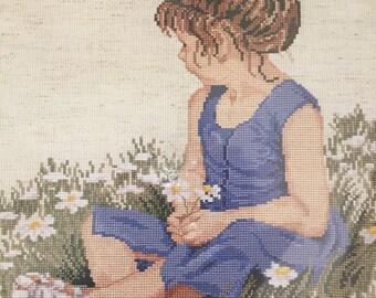 "Janlynn Vintage ""Daisy Girl"" Counted Cross Stitch Kit"