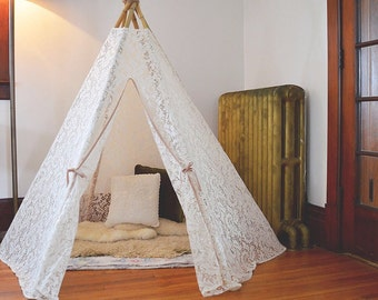 Dreamy Lace Teepee in Play Tent size