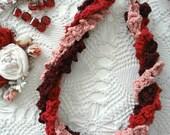 CROCHET PATTERN  Bohemian Ruffled Necklaces  Pattern,crochet necklace,ruffled necklace,gradient necklace, DIY, crochet pattern,boho chic