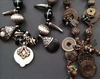 CUSTOM JEWELRY DESIGN by Liz Wolter assembled from an Ancient World Treasury of Vintage and Contemporary Spareparts; Preview