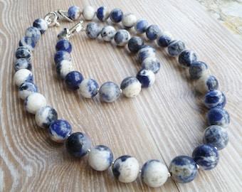Sodalite Bracelet Denim Blue UK Made