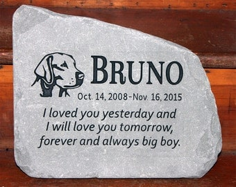 Hand Engraved Rock - Custom Pet Memorial