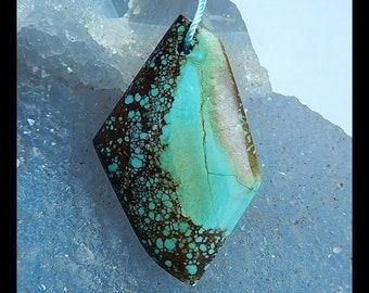 Natural Turquoise Gemstone Pendant Bead,36x24x5mm,4.7g