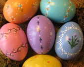 Hand-Painted Ceramic Easter Eggs (Set C3)- Hand Painted Easter Egg- Easter Egg-  Spring Decor