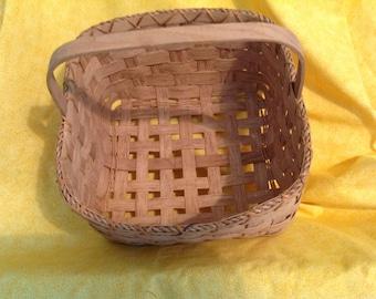 Vintage Handmade Woven Basket, dated 90's,basket,dated woven basket,