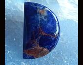 New,African Sodalite Gemstone Cabochon ,31x20x4mm,4.46g