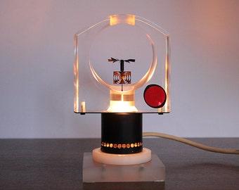 Rare Kinetic Art Lamp Object OP Art Design Vasarely Rickey Era Space Age Mid Century Modern