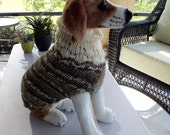 Dog Sweater Hand Knit Hondo 15 inches long
