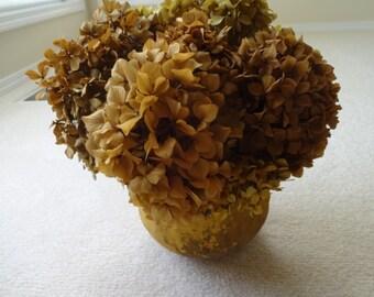 Hydrangea Floral Arrangement  Autumn Decor   Preserved Hydrangeas  Rustic Arrangement  Natural Arrangement  Home Decor  Preserved Flowers