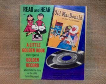 SALE SALE SALE...Old MacDonald Had a Farm - 1960s Vintage 45 rpm Vinyl  Record
