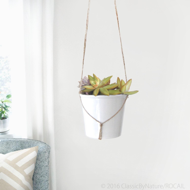 modern and minimalist macrame plant hanger diy hanging