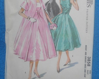 1956 McCall's Ladies Dress with Jacket for Evening Wear Pattern~Size 12