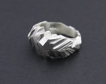 Glacial Facet Ring: Sterling Silver Faceted Ring