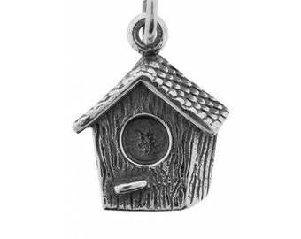 Sterling Silver 17x11mm Birdhouse Charm - 1pc High Quality Made in Thailand 10% discounted (4909)/1