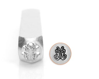 Metal Stamps ImpressArt 6mm Butterfly Spread Design Stamp Wholesale Price (5146)/1