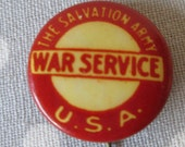 Vintage 1919 Salvation Army War Service Pin WWI World War I World War II World War 2 Collectible