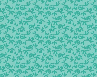 SALE Halle Rose Small Floral Teal Riley Blake 1 Yard