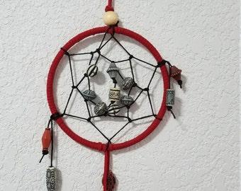 Red Beaded Dreamcatcher