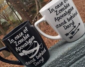 2 Walking Dead Coffee Mugs, Daryl cups