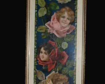 Original 1905 Metropolitan Life Insurance Co. Advertising Calendar Lithograph Print in Silver Leaf Wood Frame