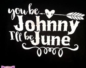Johnny Love Cash June Heart Western Rebel Rockabilly Classic Adult T Shirt Pinup Retro, Walk the line, Man in Black
