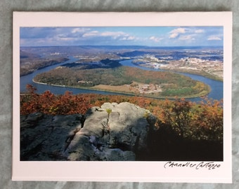 Lookout Mountain / Tennessee River / Scenic Tennessee Blank Note Card with Envelope